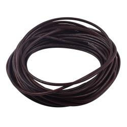 2 YARDS Natural Leather BEAD STRINGING CORD 2mm Brown