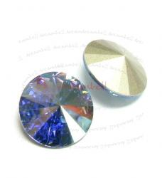 2x Swarovski Elements Rivoli Stone Crystal 1122 Aquamarine AB 18mm