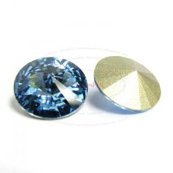 2x Swarovski Elements Rivoli Stone Crystal 1122 Aquamarine 16mm