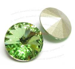 2x Swarovski Elements Rivoli Stone Crystal 1122 Peridot Green 16mm
