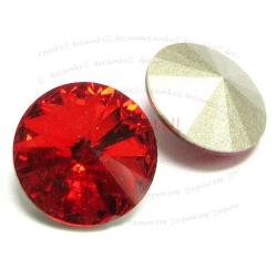 2x Swarovski Elements Rivoli Stone Crystal 1122 Light Siam Red 14mm
