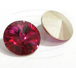 6x Swarovski Elements Rivoli Round Stone Crystal 1122 Fuchsia 12mm