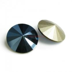 2x Swarovski Elements Rivoli Stone Crystal 1122 Metallic Blue Foiled 14mm