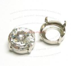 6x SWAROVSKI  CRYSTAL 1122 4 hole Sew on Setting  16mm