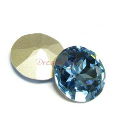 1x Swarovski Elements Cabochon Round Stone Crystal 1201 Aquamarine 27mm