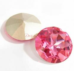 1x Swarovski Elements Cabochon Round Stone Crystal 1201 Rose Pink 27mm