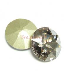 1x Swarovski Elements Cabochon Round Stone Crystal 1201 Silver Shade 27mm