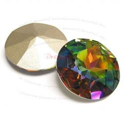 1x Swarovski Elements Cabochon Round Stone Crystal 1201 Vitrail Medium 27mm