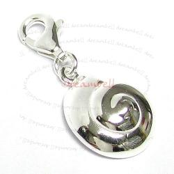 STERLING SILVER Sea Shell Dangle CHARM Pendant for European Style  Clip on Charm