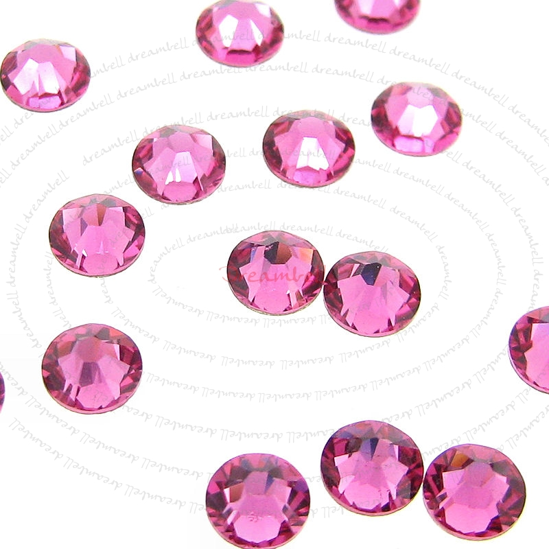 72x Swarovski Elements Flatback Crystal 2088 Rhinestone Ss16 Rose Pink No Hotfix