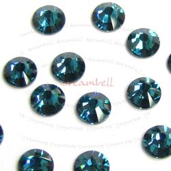72x Swarovski Elements Flatback No Hotfix Crystal 2088 Rhinestone Ss16 Blue Zircon No Hotfix