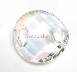 1 Swarovski Elements Crystal 3221 Twist Sew-on Moonlight 18mm