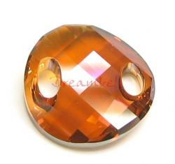 1 Swarovski Elements Crystal 3221 Twist Sew-on Copper 18mm