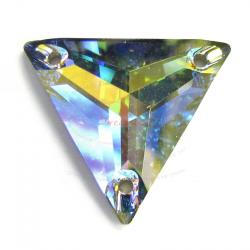 Swarovski Elements Crystal 3270 Clear AB Sew-on Triangle 22mm