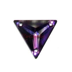 SWAROVSKI Crystal 3270 HELIOTROPE SEW-ON TRIANGLE  22mm