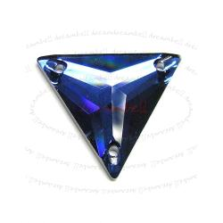 SWAROVSKI Crystal 3270 Bermuda Blue SEW-ON TRIANGLE  22mm