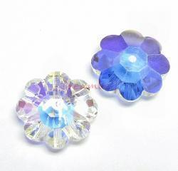 12x Swarovski Elements Crystal 3700 Margarita Beads Clear AB Unfoiled 6mm