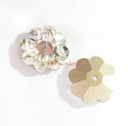 4x Swarovski Elements Crystal 3700 Margarita Beads Clear 12mm