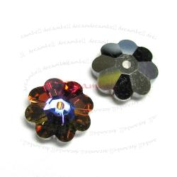 12x Swarovski Elements Crystal 3700 Margarita Beads Volcano M-foiled 6mm