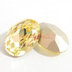 2x Swarovski Elements Oval Cabochon Stone Crystal 4120 Jonquil 18mm x 13mm