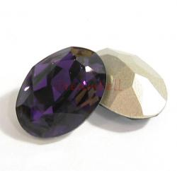 2x Swarovski Elements Oval Cabochon Stone Crystal 4120 Purple Velvet 18mm x 13mm