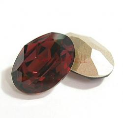 2x Swarovski Elements Oval Cabochon Stone Crystal 4120 Burgundy 18mm x 13mm