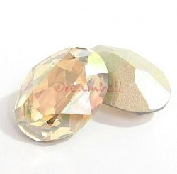 2x Swarovski Elements Oval Cabochon Stone Crystal 4120 Golden Shadow 18mm x 13mm