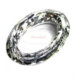 Swarovski 4137 Oval Cosmic Ring Frame Clear AB 15mm (Cal V SI)