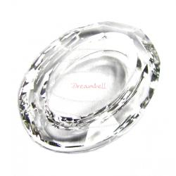 1x Swarovski Elements Crystal 4137 Oval Cosmic Ring Frame Clear 15mm