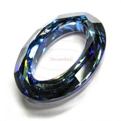 Swarovski 4137 Oval Cosmic Ring Frame Bermuda Blue 15mm