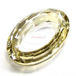 Swarovski 4137 Oval Cosmic Ring Frame Golden Shadow 15mm