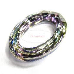 Swarovski 4137 Oval Cosmic Ring Frame Vitrail Light 15mm