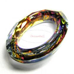 Swarovski 4137 Oval Cosmic Ring Frame Volcano 15mm