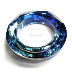Swarovski 4139 Round Cosmic Ring Frame Bermuda Blue 20mm