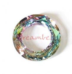 Swarovski 4139 Round Cosmic Ring Frame Vitrail Light 14mm