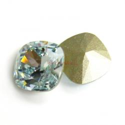 2x Swarovski Elements Crystal 12mm 4470 Cushion Square Light Azore Foiled Stone