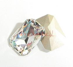 1x Swarovski Elements Octagon Cabochon Stone Crystal 4627 Clear 27mm x 18.5mm