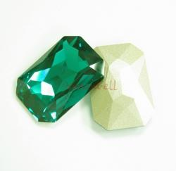 1x Swarovski Elements Octagon Cabochon Stone Crystal 4627 Emerald 27mm x 18.5mm