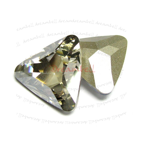 1x Swarovski Elements Triangular Cabochon Stone Crystal 4727 Silver Shade 23mm