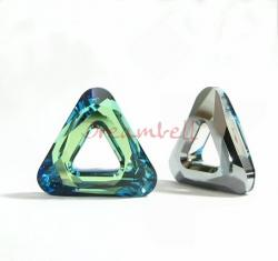 1x Swarovski Elements 4737 Comsic Triangle Frame 14mm Bermuda Blue