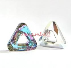 1x Swarovski Elements 4737 Comsic Triangle Frame 14mm Vitrail Light