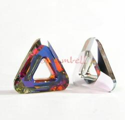 1x Swarovski Elements 4737 Comsic Triangle Frame 14mm Volcano