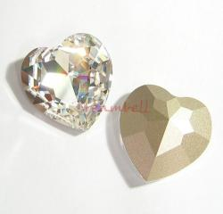1x Swarovski Elements Crystal 28mm Heart Stone Crystal 4827 Clear