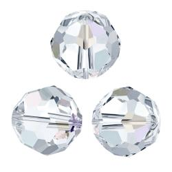 12x Swarovski Crystal Elements Round Faceted 5000 Clear AB 7mm