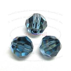 12x SWAROVSKI CRYSTAL Round Faceted 5000 Montana AB 6mm