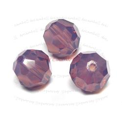 12 x SWAROVSKI CRYSTAL Round Faceted 5000 CYCLAMEN OPAL 6mm