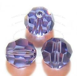 12 x Swarovski Crystal Elements Round Faceted 5000 Tanzanite 6mm
