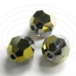 12 x SWAROVSKI CRYSTAL Round Faceted 5000 Dorado 2x AB 6mm