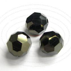12 Swarovski crystal 5000 Bead Jet Nut 2x 6mm