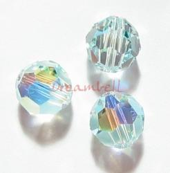6x AB Swarovski Crystal Elements Round 5000 Light Azore 8mm